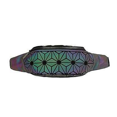 preiswerte Taschen-Damen / Mädchen Reißverschluss / Kette Hüfttaschen PU / Synthetik Geometrische Muster Silber / Hell-Gold / Regenbogen