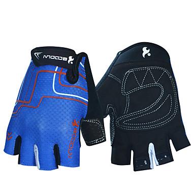 Χαμηλού Κόστους Γαντια Ποδηλασίας-BOODUN Γάντια ποδηλασίας Αναπνέει Αντιολισθητικό Anti Transpirație Προστατευτικό Μισά Δάχτυλα Γάντια για Δραστηριότητες/ Αθλήματα Ποδηλασία Βουνού Μαύρο Πορτοκαλί Μπλε για Ενηλίκων Για Υπαίθρια Χρήση