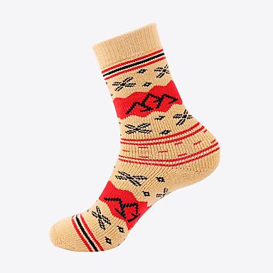 Vaellussukat Reunaton sukka 1 Pair Tuulenkestävä Lämmin Venyvä Deodorantti Fleece Talvi varten Miesten Naisten Kiipeily Ulkoilu Tumman harmaa