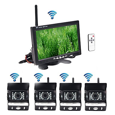 voordelige Automatisch Electronica-BYNCG rear view camera 7 inch(es) TFT-LCD 600TVL 480 TV-Lijnen / 600 TV-Lijnen 1/4 tuuman CMOS OV7950 Draadloos 120 graden 7 inch(es) Achteruitrijcamera / Auto-achteruitrijmonitor / Car Rear View Kit