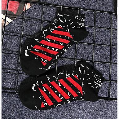 abordables Accessoires pour Chaussures-10 paires Femme Chaussettes Rayé Déodorant Coton EU36-EU42