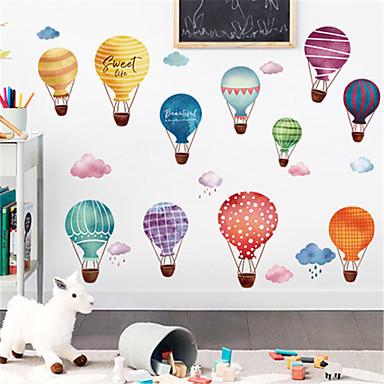 tegneserie hot air balloon selvklæbende væg klistermærker børnehave sovesal gratis klistermærker børneværelse soveværelse væg dekorationer