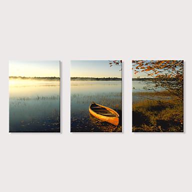 abordables Toiles-Imprimé Impression sur Toile - Paysage Moderne Trois Panneaux Art Prints