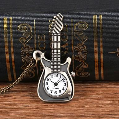 baratos Relógio de Bolso-Homens Relógio de Bolso Quartzo Bronze Criativo Mostrador Grande Analógico Casual Fashion - Bronze