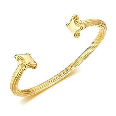 voordelige Armband-Heren Klassiek Cuff armbanden Titanium Staal Vreugde Stijlvol Armbanden Sieraden Goud Voor Lahja Dagelijks