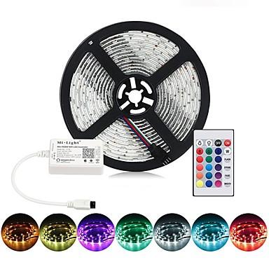 billige LED Strip Lamper-BRELONG® 5 m RGB-lysstriper 300 LED SMD5050 RGB Fest / Dekorativ / Koblingsbar 12 V 1pc