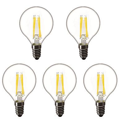 זול נורות תאורה-5pcs 3 W נורות גלוב לד נורת להט לד 300 lm E14 E26 / E27 G45 4 LED חרוזים לד בכוח גבוה דקורטיבי לבן חם 220-240 V 220 V 230 V