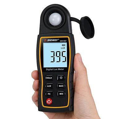sndway sw-582 digitaalinen luxmeter lux / fc mittari valomittari valokuvaus luminometri fotometri kädessä pidettävä spektrometri illuminomete 200000lux