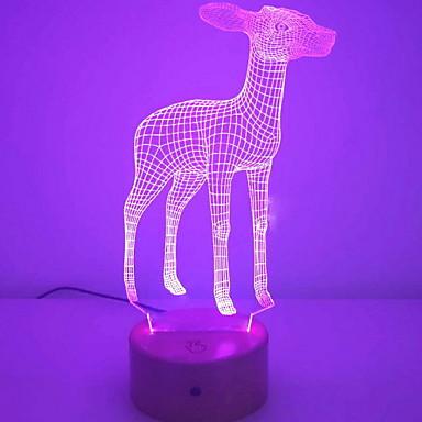 1kpl LED Night Light Muutos USB Luova <=36 V