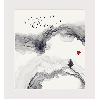 billige Trykk-Trykk Valset lerretskunst - Abstrakt Tradisjonell Kunsttrykk