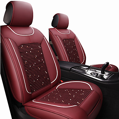 abordables Accessoires Intérieur de Voiture-coussins de siège de voiture couvre siège vin / noir / tissu de polyester brun / cuir commun / entreprise pour universel toutes les années