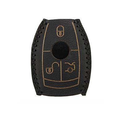 voordelige Auto-interieur accessoires-lederen auto smart key case cover zwart voor mercedes-benz w203 w210 w211 amg w204