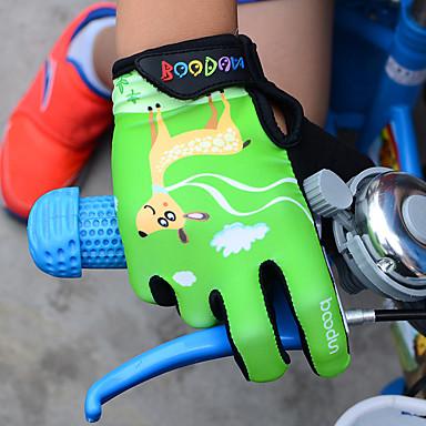 abordables Gants Velo-BOODUN Gants vélo / Gants Cyclisme Gants de VTT Respirable Antidérapant Résistant aux Chocs Protectif Gants sport Maille Gel de silicone VTT Vélo tout terrain Fuchsia Vert Bleu pour Enfant Extérieur