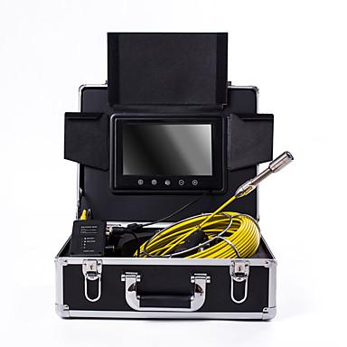 voordelige Microscopen & Endoscopen-23 mm lens industriële endoscoop 20m werklengte 9 inch display auto reparatie inspectie pijpleiding reparatie
