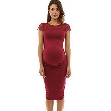68b962bc8a Damskie Podstawowy Bodycon Pochwa Sukienka - Solidne kolory