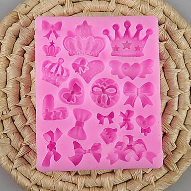 2pcs Silikoni Creative Kitchen Gadget Uutuusvälineet keittiöön kakku Muotit Bakeware-työkalut