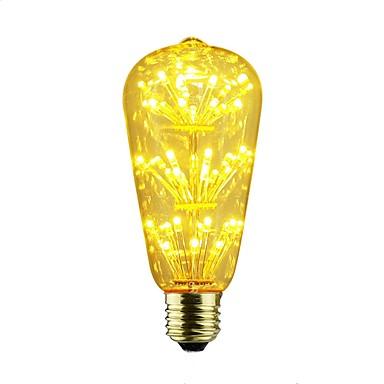 abordables Ampoules électriques-6pcs 2 W Ampoules Globe LED 100-160 lm E26 / E27 ST64 45 Perles LED Étoilé 110-220 V