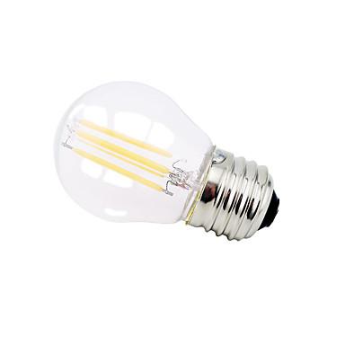 billige Elpærer-1pc 4 W LED-globepærer 360 lm E26 / E27 G45 4 LED perler Høyeffekts-LED Mulighet for demping Dekorativ Smuk Varm hvit Kjølig hvit 220-240 V