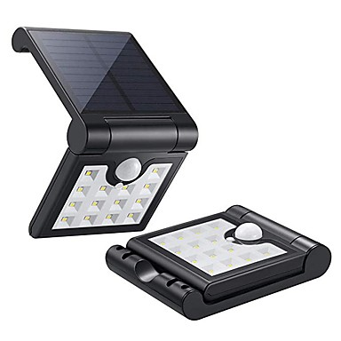 1kpl 1 W LED-valonheittimet / Led Street Light / Aurinkosuojalaite Vedenkestävä / Aurinkokenno / Infrapunasensori Valkoinen 3.7 V Ulkovalaistus / Uima-allas / Piha 14 LED-helmet