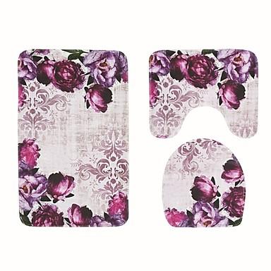 Casual / Modern Tappeti bagno Materiale speciale Floreale Antiscivolo