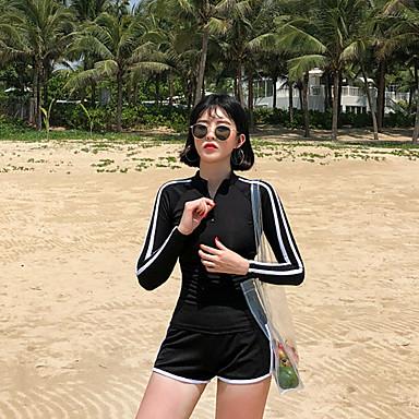 Naisten Rashguard-uimapuku Uima-asut UV-aurinkosuojaus Hengittävä Uinti Snorklaus Yhtenäinen Kesä / Mikrojoustava