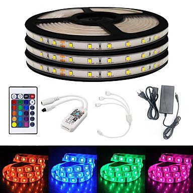 billige LED Strip Lamper-brelong smart wifi smd 2835 lys med rgb 24keys 15m 900led ip65 ikke vanntett dc12v med 5a eu strøm