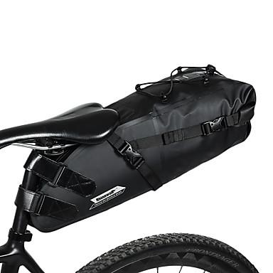 abordables Sacoches de Vélo-RHINOWALK 10 L Sacoche de Selle de Vélo Grande Capacité Etanche Logo Réfléchissant Sac de Vélo TPU Lycra PVC Sac de Cyclisme Sacoche de Vélo Cyclisme Vélo de Route Vélo tout terrain / VTT Extérieur