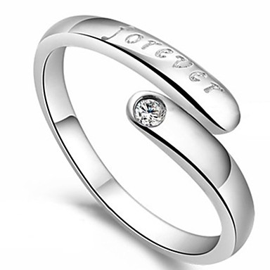 cheap Rings-Women's Open Ring Letter Stylish Simple Ring Jewelry Silver For Daily