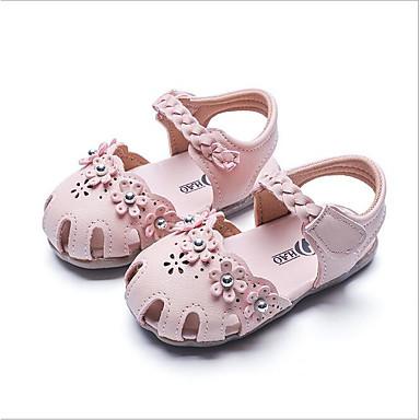 baratos Sapatos de Criança-Para Meninas Sintéticos Sandálias Crianças (0-9m) / Criança (9m-4ys) Sapatos para Daminhas de Honra Bege / Rosa claro Verão