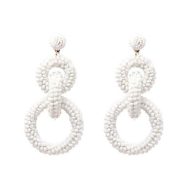 7a461f0dc1f Women s Braided Drop Earrings Resin Earrings Weave Rock Jewelry Black    Yellow   Blue For Street Club Bar 1 Pair