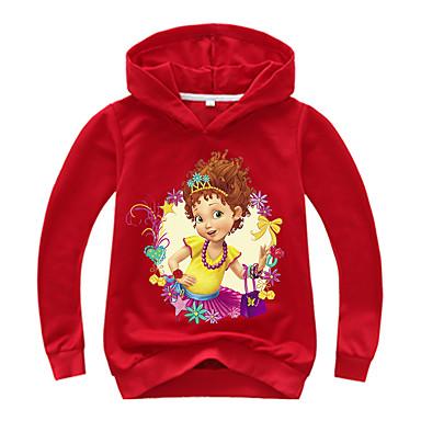 baratos Moletons Para Meninas-Infantil Bébé Para Meninas Activo Básico Estampado Estampado Manga Longa Algodão Moleton & Blusa de Frio Rosa