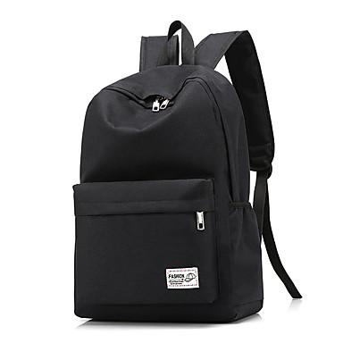 957a0033af40 Unisex Bags Oxford Cloth Commuter Backpack Zipper Solid Color Blue / Black  / Gray