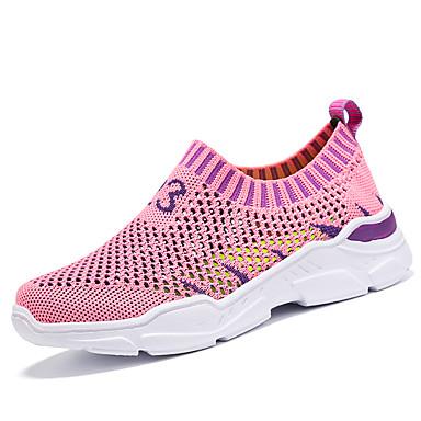 baratos Sapatos de Criança-Para Meninas Tricô Tênis Little Kids (4-7 anos) / Big Kids (7 anos +) Conforto Preto / Rosa claro Primavera / Verão