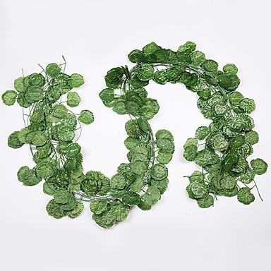 12ks květ vinná réva 72ks list 1 kus 2m domácí dekorace umělý břečťan list girlanda rostlina révy falešný list květ plaz zelený břečťan věnec