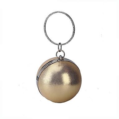 billige Vesker-Dame Krystalldetaljer / Glimmer polyester / Legering Aftenveske Rhinestone Crystal Evening Bags Helfarge Gull / Svart / Sølv / Høst vinter