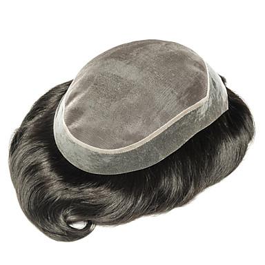 povoljno Tupe-Muškarci Ljudska kosa Tupe Ravan kroj Novi Dolazak / Rasprodaja / Bojanje / Crna