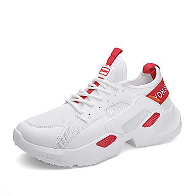 Erkek Ayakkabı PU İlkbahar yaz İngiliz / Çıtı Pıtı Atletik Ayakkabılar Günlük / Dış mekan için Siyah / Siyah / Beyaz / Beyaz