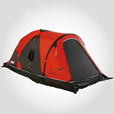 cheap Tents, Canopies & Shelters-LONGSINGER 2 person Family Tent Outdoor Windproof UV Resistant Rain Waterproof Double Layered Poled Camping Tent >3000 mm for Camping / Hiking / Caving 70D Nylon 360*135*115 cm