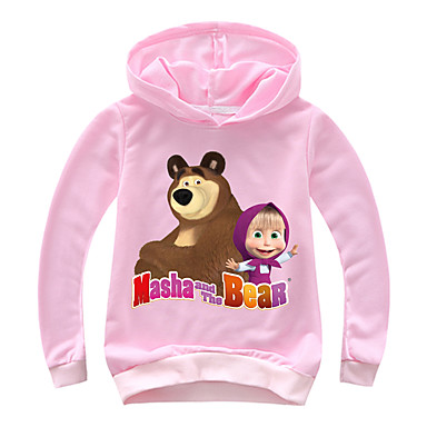 8b1e1fb85 Kids Toddler Girls' Basic Print Print Long Sleeve Cotton Spandex Hoodie &  Sweatshirt Blushing Pink