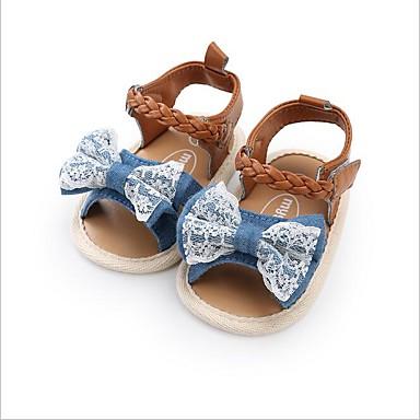 baratos Para Crianças de 0-9 Meses-Para Meninas PVC Chinelos e flip-flops Crianças (0-9m) Sapatos para Daminhas de Honra Branco / Azul Escuro / Azul Verão