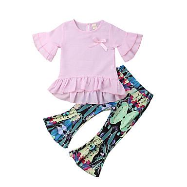bb421f4fd6b0 Χαμηλού Κόστους Σετ ρούχων για κορίτσια-Παιδιά Νήπιο Κοριτσίστικα Ενεργό  Μπόχο Φλοράλ Στάμπα Μισό μανίκι