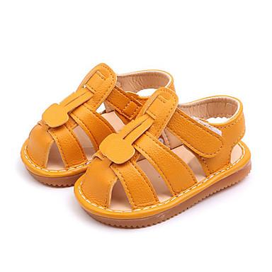 voordelige Babyschoenentjes-Jongens / Meisjes Comfortabel Microvezel Sandalen Peuter (9m-4ys) Wit / Geel / Roze Zomer / Rubber