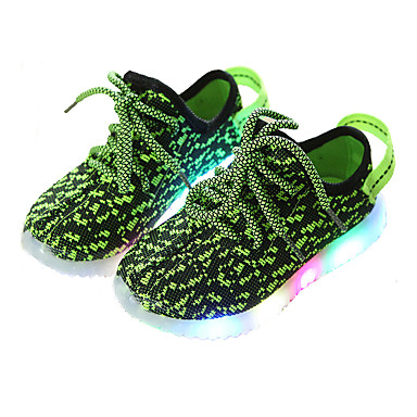 voordelige Babyschoenentjes-Jongens Oplichtende schoenen Elastische stof Sneakers Peuter (9m-4ys) / Little Kids (4-7ys) / Big Kids (7jaar +) Rood / Groen / Blauw Zomer / Rubber