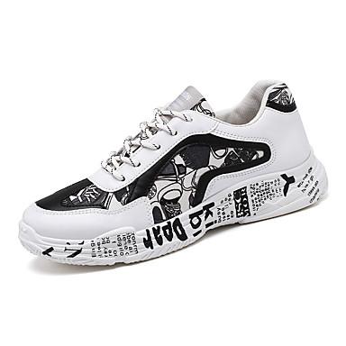 Erkek Ayakkabı Örümcek Ağı Yaz / Sonbahar Sportif / Günlük Atletik Ayakkabılar Koşu / Yürüyüş Atletik / Günlük için Siyah / Siyah ve Beyaz