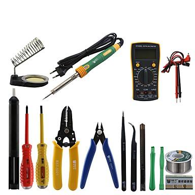 6d8502370 BST-113 Tools box 16 in 1 Household Professional Tools Screwdrivers  Soldering Iron Multimeter Tweezers Repair Tool kit Tool box
