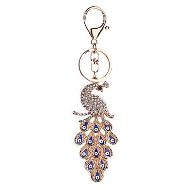 baratos Bijuteria de Mulher-Chaveiro Pássaro Fashion Anéis Jóias Azul Para Casual Diário