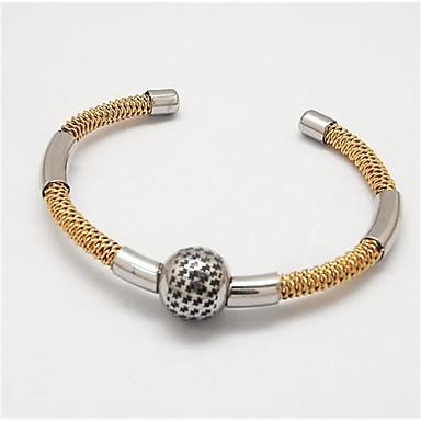 abordables Bracelet-Manchettes Bracelets Homme Classique Acier inoxydable Joie Elégant Bracelet Bijoux Dorée Argent Forme C pour Soirée Quotidien