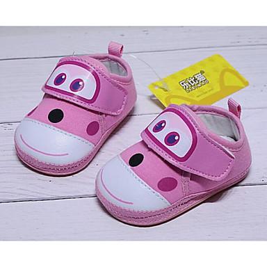 voordelige Babyschoenentjes-Meisjes Katoen Platte schoenen Zuigelingen (0-9m) Comfortabel / Eerste schoentjes Rood / Blauw / Roze Lente