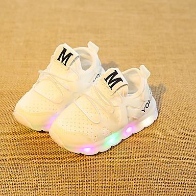 voordelige Babyschoenentjes-Meisjes Oplichtende schoenen Elastische stof Sneakers Peuter (9m-4ys) / Little Kids (4-7ys) Wit / Zwart / Roze Zomer / Rubber