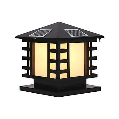 billige Utendørsbelysning-QINGMING® 1pc 3 W Vanntett / Solar / Lysstyring Varm hvit + hvit 3.7 V Utendørsbelysning / Courtyard / Have 1 LED perler